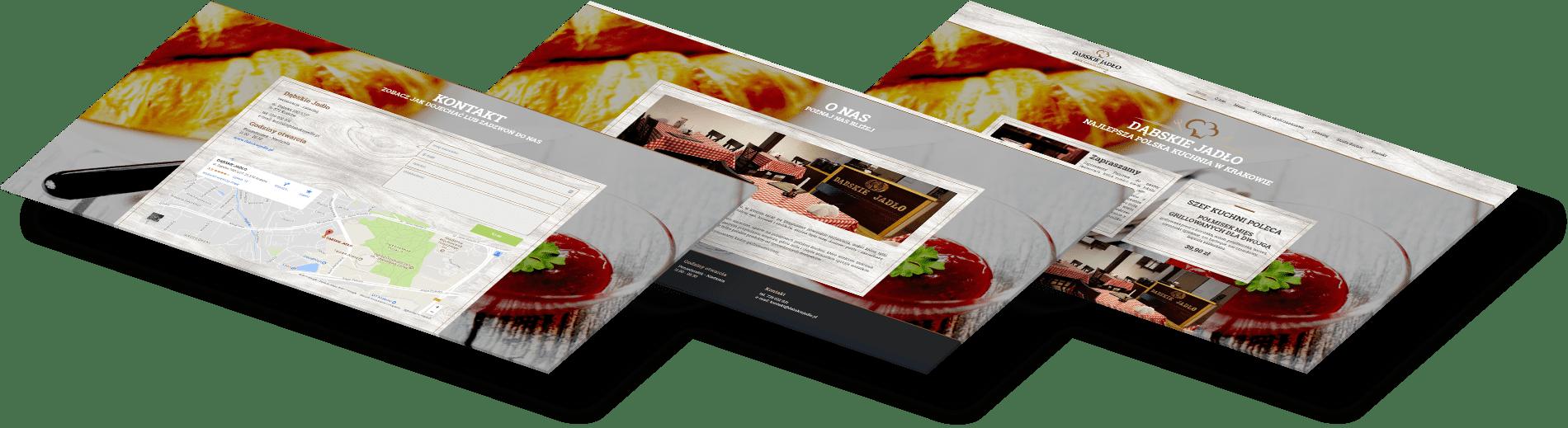 szablon strony dla restauracji w Krakowie