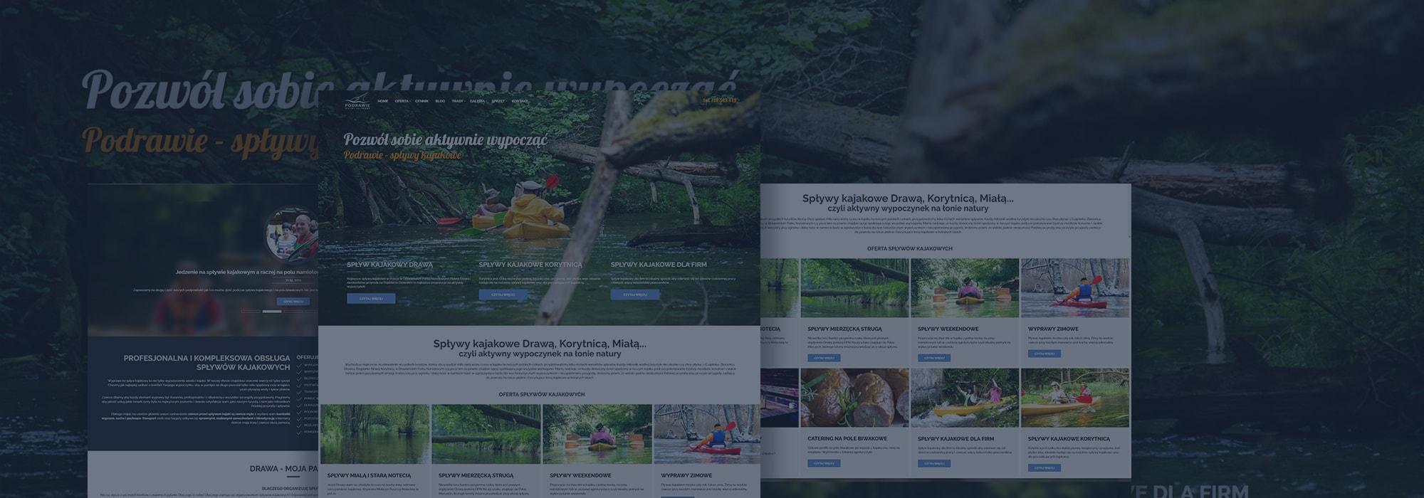 projekt strony dla spływów kajakowych