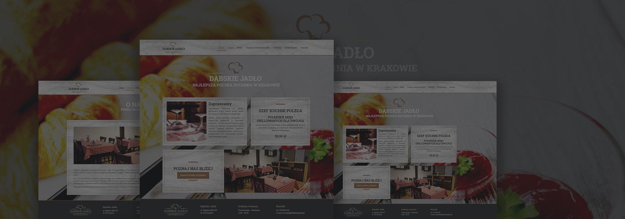 prosta strona internetowa dla restauracji w krakowie