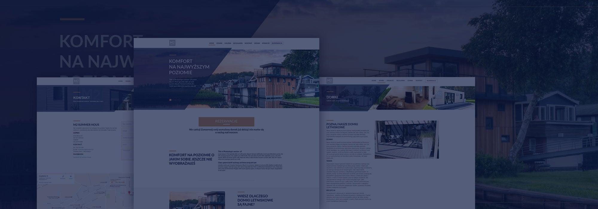 projekt strony domków letniskowych strona główna oferta