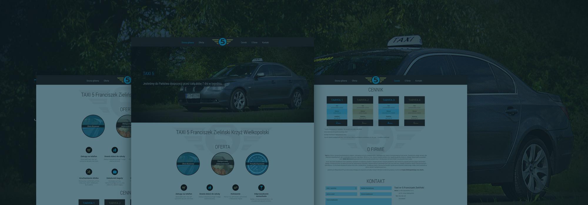projekt strony dla taxi