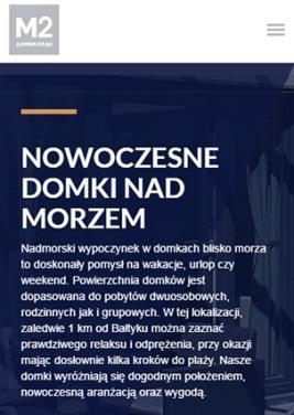 strona internetowa wersja responsywna wynajem domków