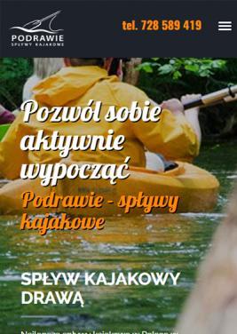 wersja mobilna strony www spływy kajakowe