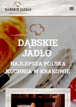 Wersja mobilna strony dla restauracji