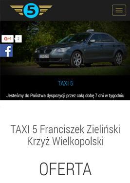 responsywna strona taxi przewóz osób